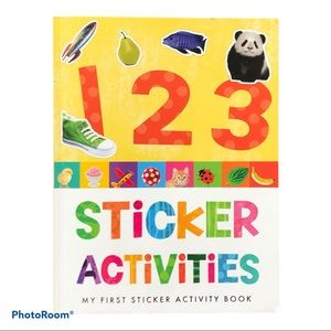 My First 1, 2, 3 Sticker Activity Learning Book Numbers Leetters Counting